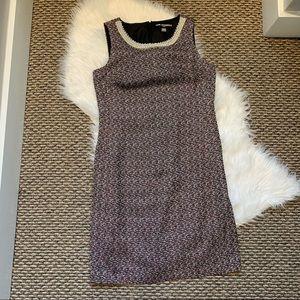 Karl Lagerfeld Tweed Dress Pearl Embellishment 8
